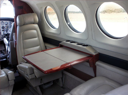 Photo of Beech C90 cabin luxuries